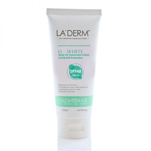 LA'DERM U-White Body Sunscreen Lotion UVA & UVB Protection PA