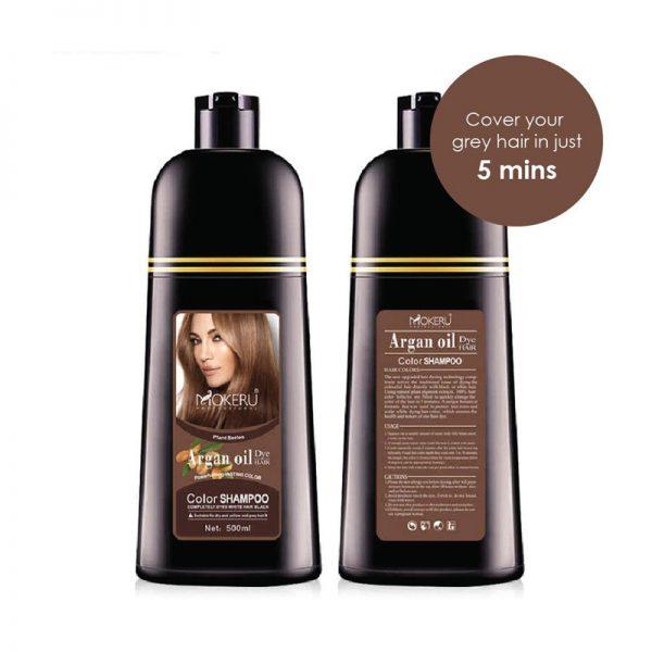 Mokeru Argan Oil D.Brown Shampoo